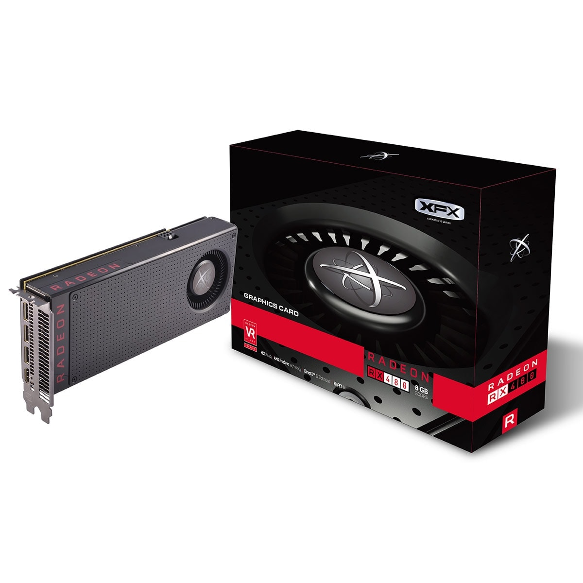 XFX Radeon RX 480 (RX-480M8BFA6) - Achat / Vente Carte Graphique sur Cybertek.fr - 0