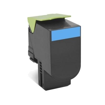 Toner Cyan 802SC - 80C2SC0 pour imprimante Laser Lexmark - 0