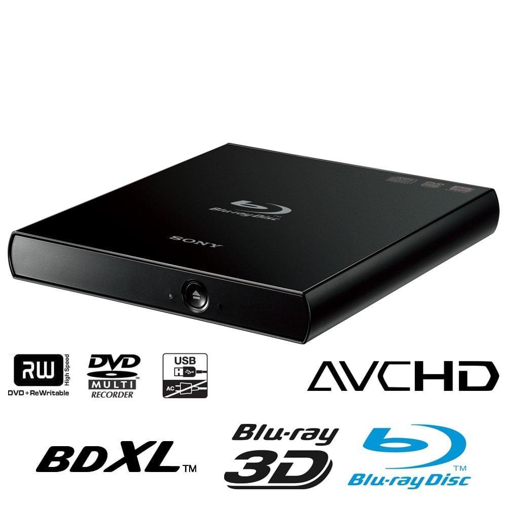 Sony Externe Slim  Noir - BD-R/BD-RE 6x USB2 - Graveur - 0