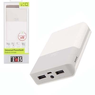 T'nB PowerBank 7500 mAh (PBUC7500 **) - Achat / Vente Accessoire téléphonie sur Cybertek.fr - 0