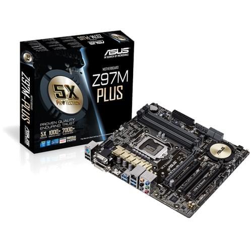 Asus Z97M-PLUS (Z97M-PLUS) - Achat / Vente Carte Mère sur Cybertek.fr - 0
