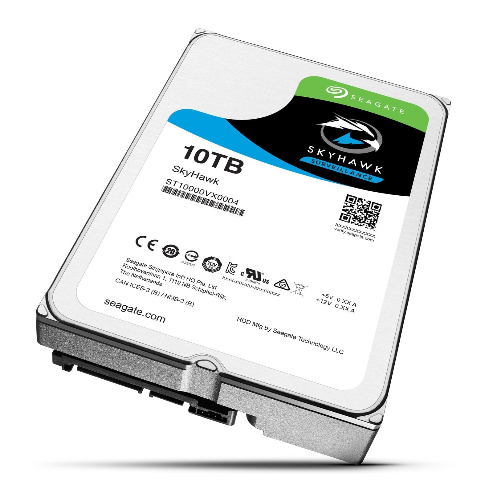 """Seagate 10To SATA III 256Mo SkyHawk ST10000VX0004 (ST10000VX0004) - Achat / Vente Disque dur interne 3.5"""" sur Cybertek.fr - 0"""