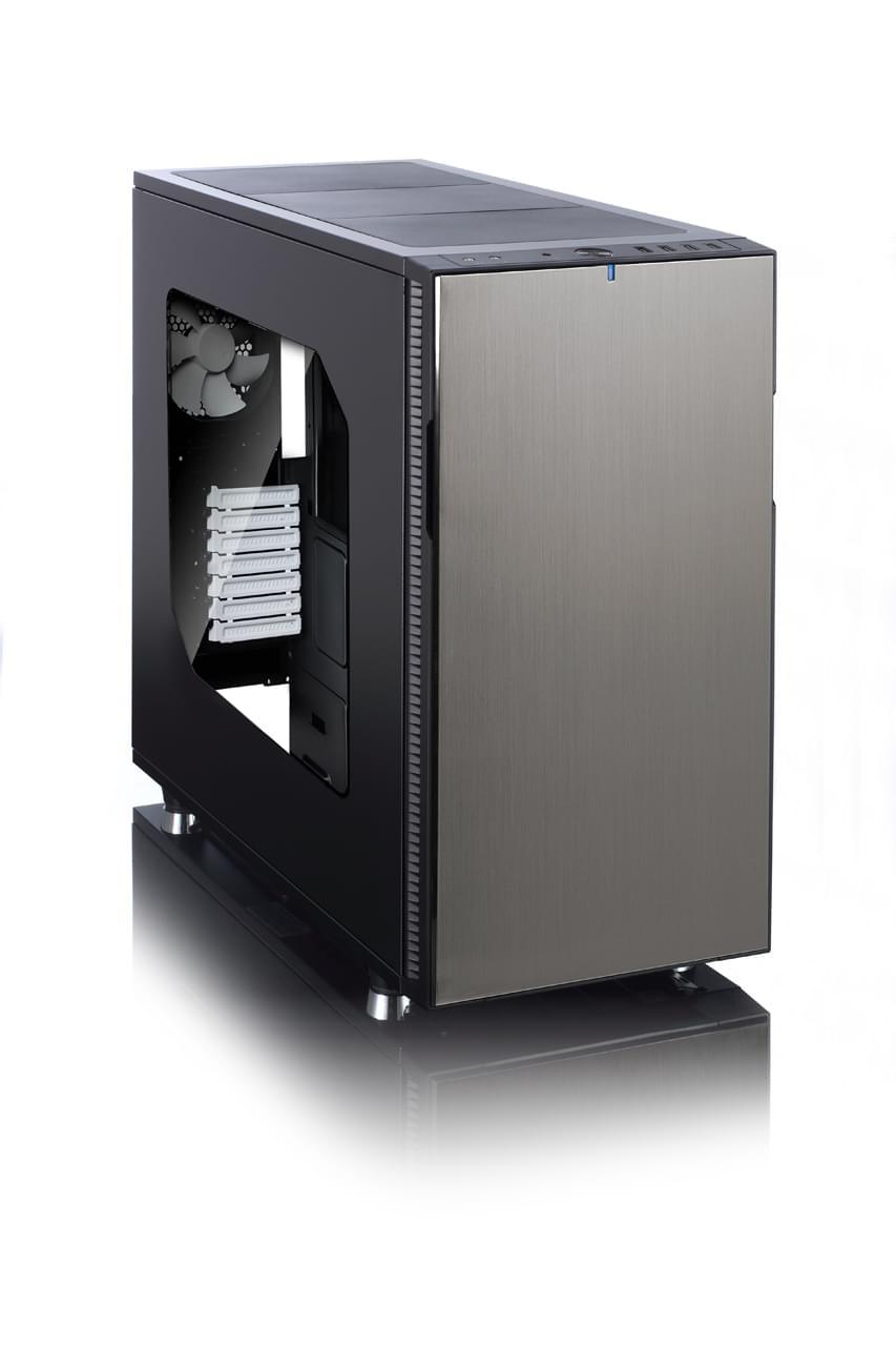 Fractal Design Define R5 Titanium Window -MT/Sans Alim/ATX/USB3.0 (FD-CA-DEF-R5-Ti-W) - Achat / Vente Boîtier PC sur Cybertek.fr - 0