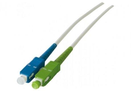 Cordon simplex fibre optique OS2 LS0H APC/UPC 2,0m - 0