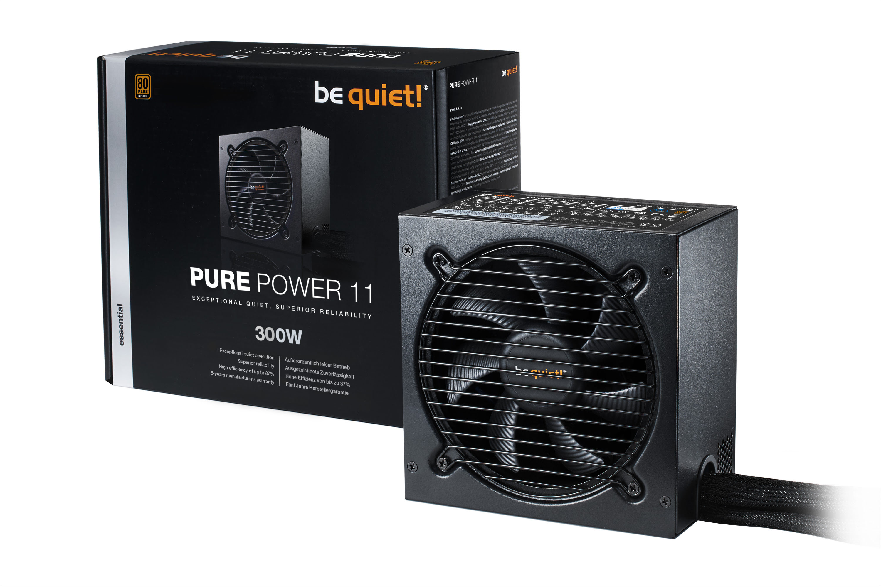 Be Quiet! Pure Power 11 300W  80+ Bronze - BN290  (BN290 **) - Achat / Vente Alimentation sur Cybertek.fr - 1