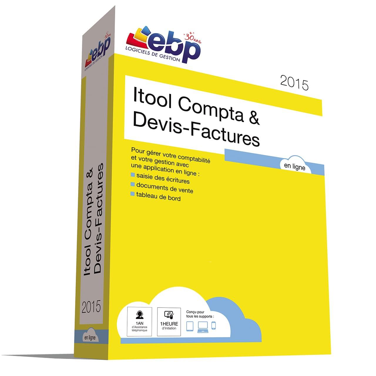 EBP Itool Compta & Devis-Factures En Ligne 2015 (9171A000FAH) - Achat / Vente Logiciel Application sur Cybertek.fr - 0