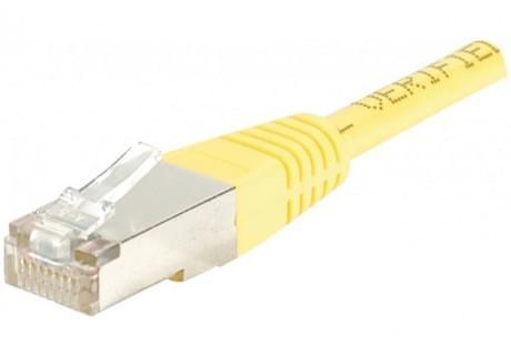 Patch RJ45 cat6 FTP 15cm Jaune - Connectique réseau - Cybertek.fr - 0