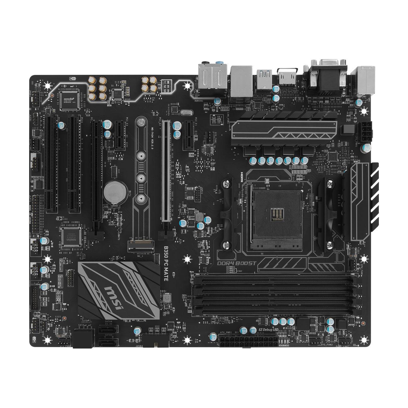 MSI B350 PC MATE ATX DDR4 - Carte mère MSI - Cybertek.fr - 4