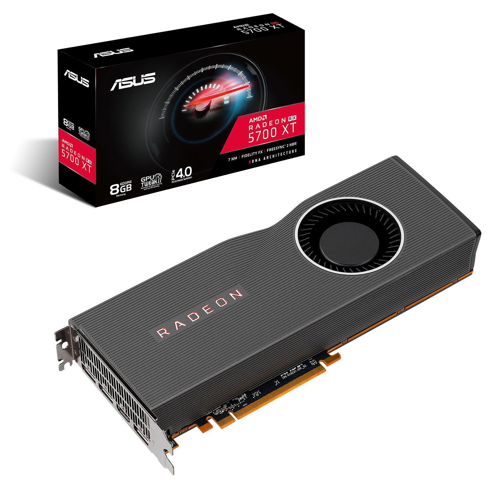 Carte graphique Asus RX5700XT-8G - RX5700XT/8Go/HDMI/DP