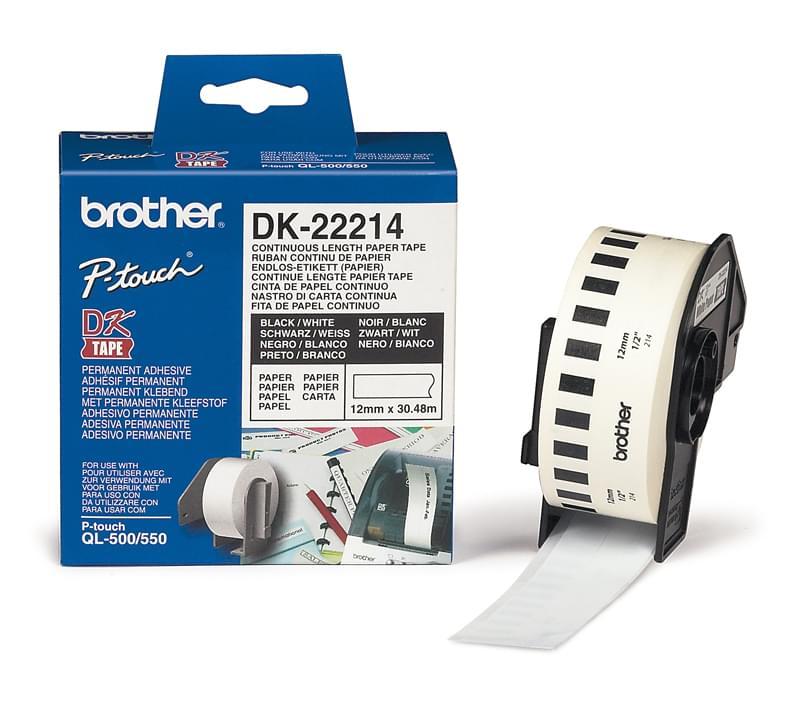 DK-22214 - Ruban Etiquettes 30x12 pour imprimante Transfert thermique Brother - 0