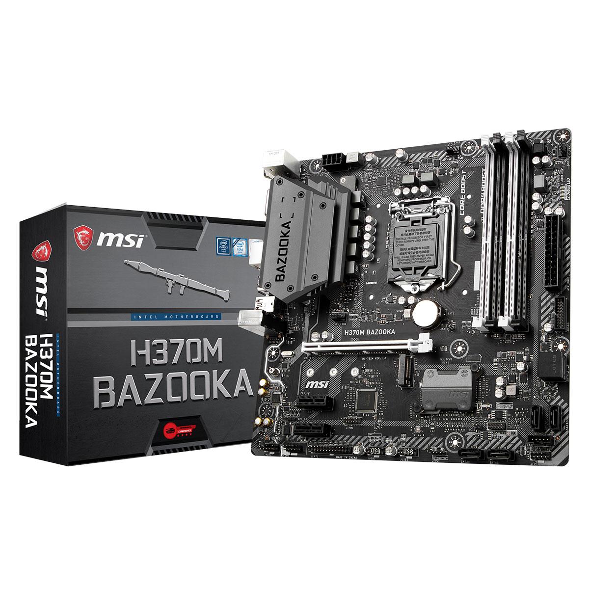 MSI H370M BAZOOKA Micro-ATX DDR4 - Carte mère MSI - Cybertek.fr - 0