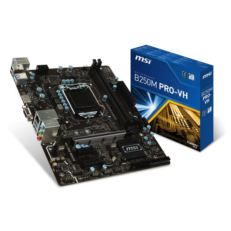 MSI B250M PRO-VH Micro-ATX DDR4 - Carte mère MSI - Cybertek.fr - 0
