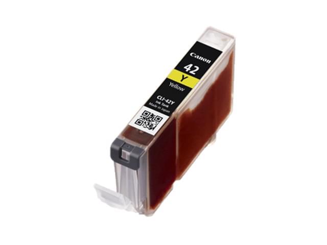Cartouche CLI-42 Y Jaune - 6387B001 pour imprimante Jet d'encre Canon - 0