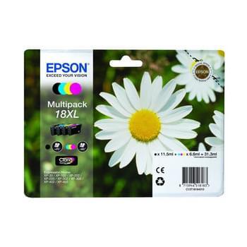Epson Pack de 4 Cartouches T1816 XL (BK/Y/M/C) (C13T18164010) - Achat / Vente Consommable Imprimante sur Cybertek.fr - 0