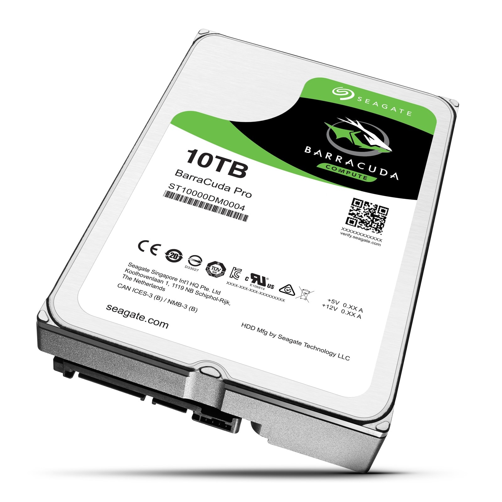 "Seagate 10To SATA III 256Mo BarraCuda PRO ST10000DM0004 - Disque dur interne 3.5"" - 0"