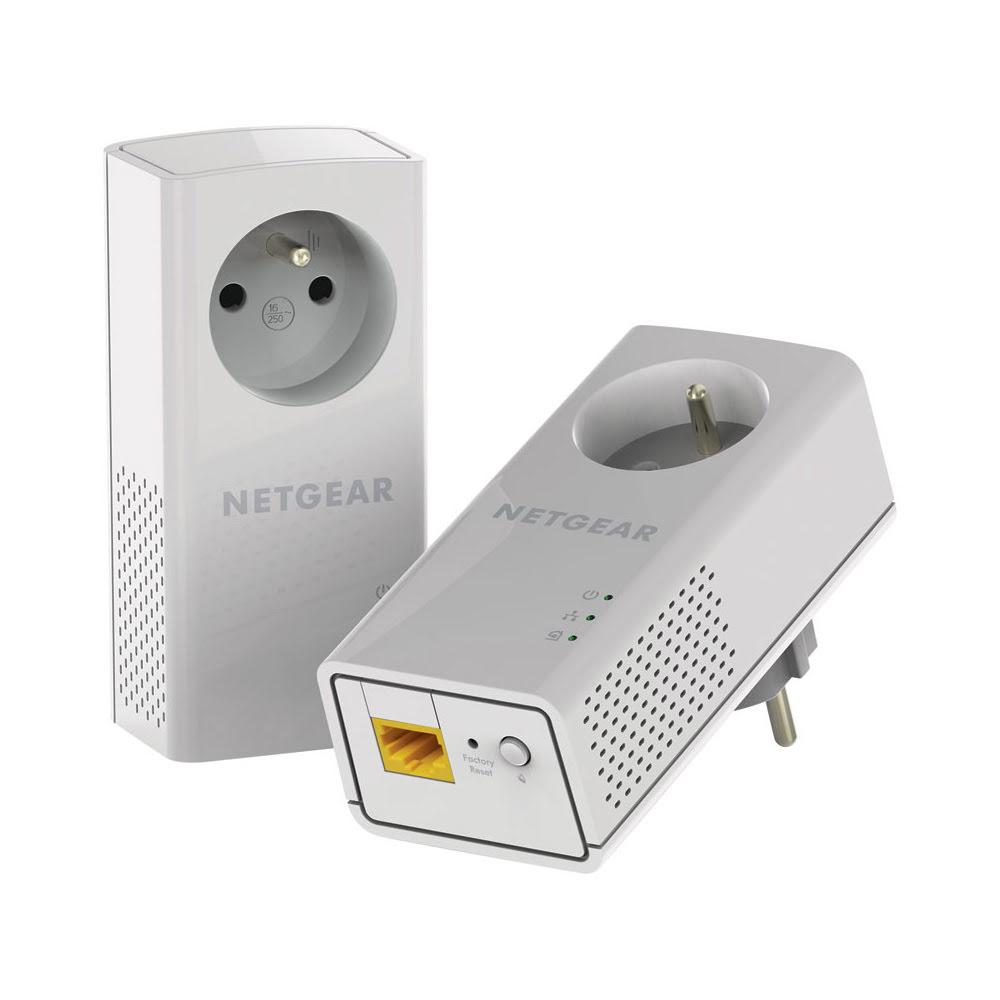 Netgear PLP1000 (1000Mb) avec prise - Pack de 2 - Adaptateur CPL - 0
