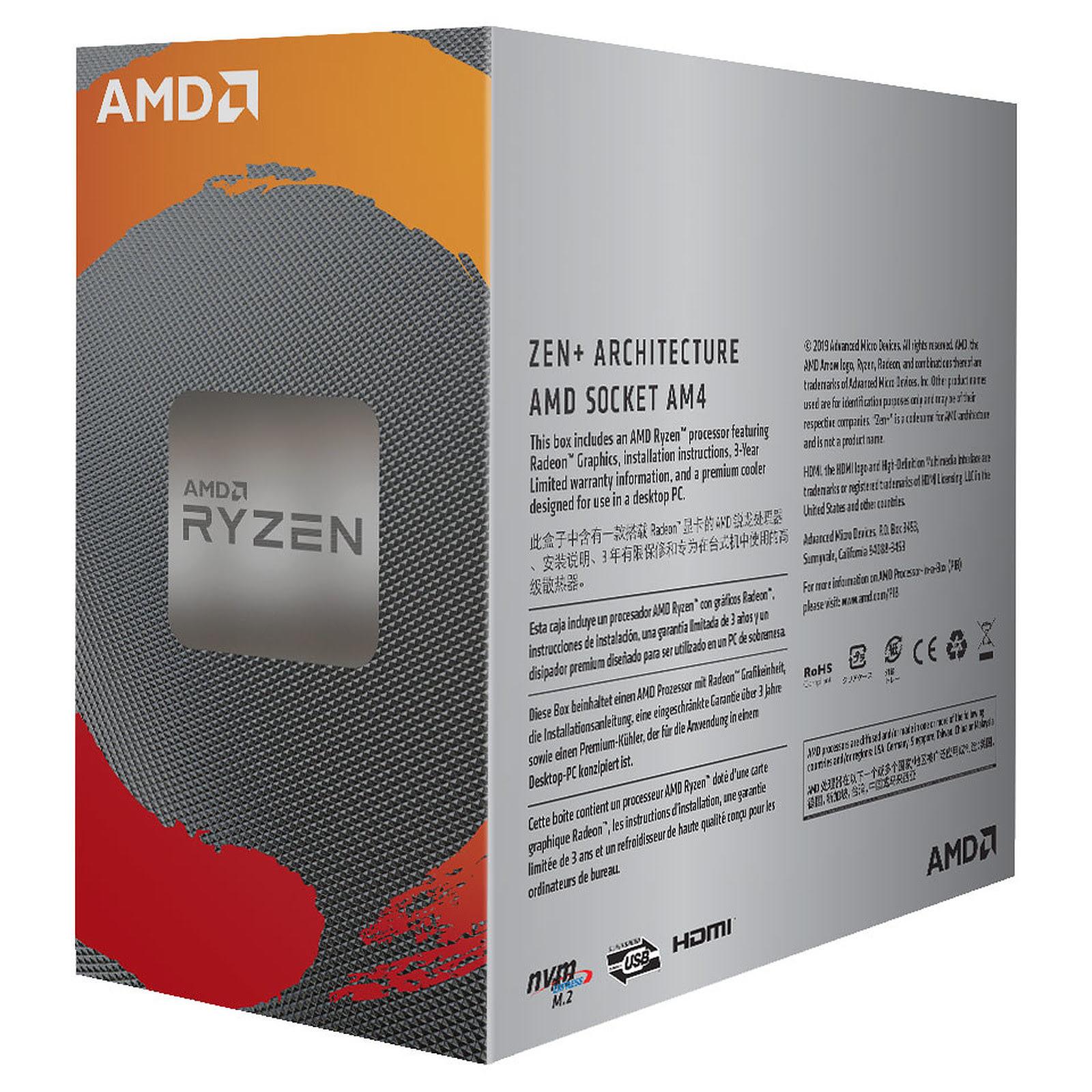 AMD Ryzen 3 3200G (YD3200C5FHBOX) - Achat / Vente Processeur sur Cybertek.fr - 1