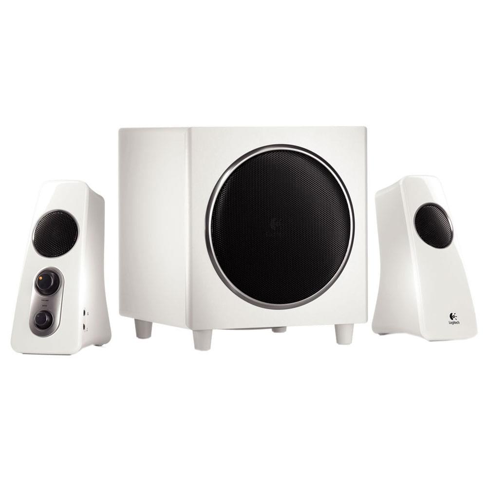 Logitech Speaker System Z523 White 2HP+Caisson (980-000367) - Achat / Vente Enceinte PC sur Cybertek.fr - 0