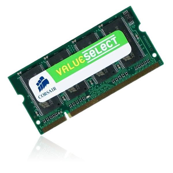 Corsair SO-DIMM 1Go DDR 400 VS1GSDS400 - Mémoire PC portable - 0