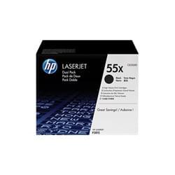 Toners Noirs 12500p X 2 - CE255XD pour imprimante Laser HP - 0