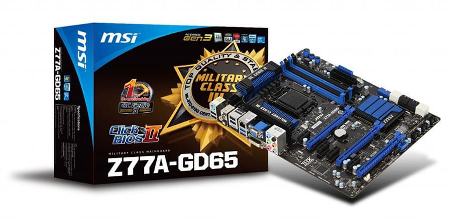 Carte mère MSI Z77A-GD65 - 0