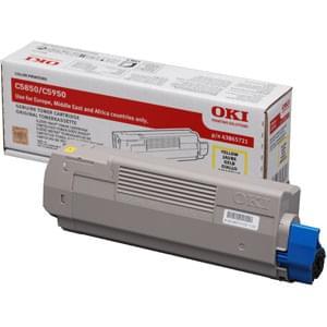 Toner Jaune 6000p - 43865721 pour imprimante  Oki - 0