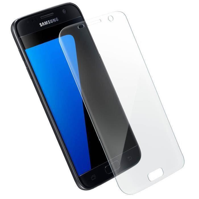 Protection verre trempé pour Galaxy S7 - Accessoire téléphonie No Name - 0