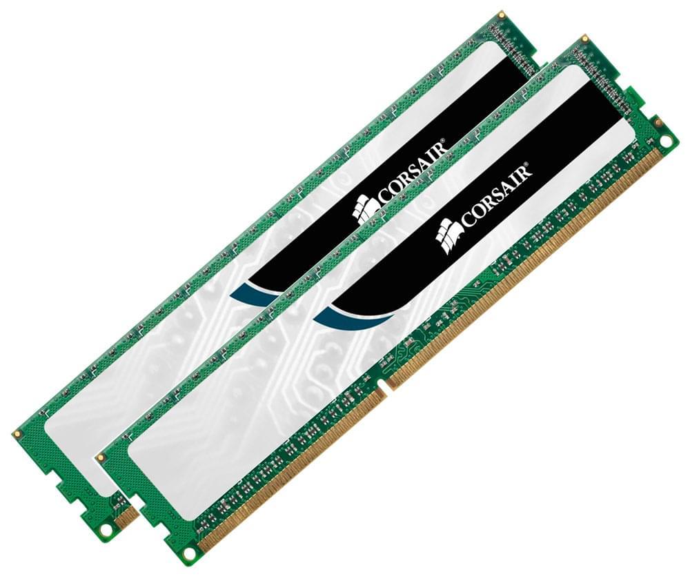 Corsair CMV4GX3M2A1333C9 (2x2Go DDR3 1333 PC10600) (CMV4GX3M2A1333C9) - Achat / Vente Mémoire PC sur Cybertek.fr - 0