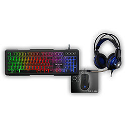 image produit The G-LAB Gaming Combo XENON - Casque/Clavier/Souris/Tapis Cybertek