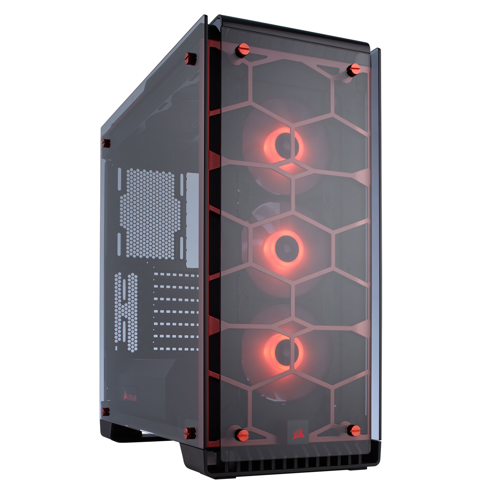 Corsair Crystal 570X RGB Rouge Transparent - Boîtier PC Corsair - 0