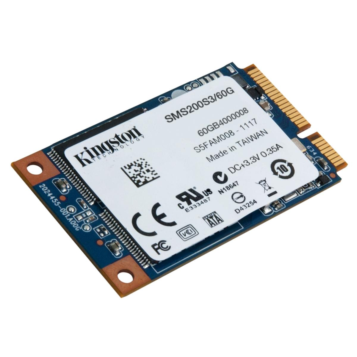Kingston 60Go mSATA SMS200S3/60G 60-64Go - Disque SSD Kingston - 0