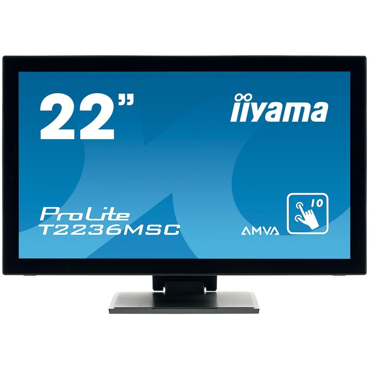 Iiyama T2236MSC-B1 (T2236MSC-B1) - Achat / Vente Ecran PC sur Cybertek.fr - 0