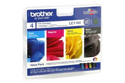 Consommable imprimante Brother Pack de 4 cartouches LC1100 BK/C/M/Y