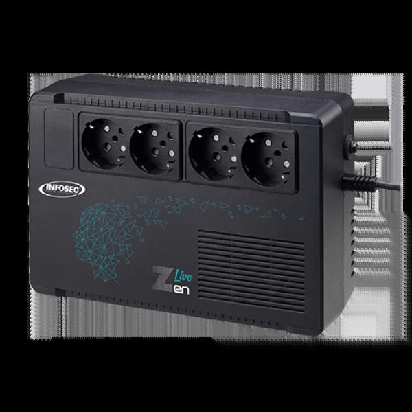 ZEN LIVE 500VA - 4 prises - Onduleur Infosec - Cybertek.fr - 0
