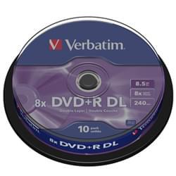 Verbatim Consommable Stockage DVD+R Vierge 8.5Go Dual Layer (pack de 10) Cybertek