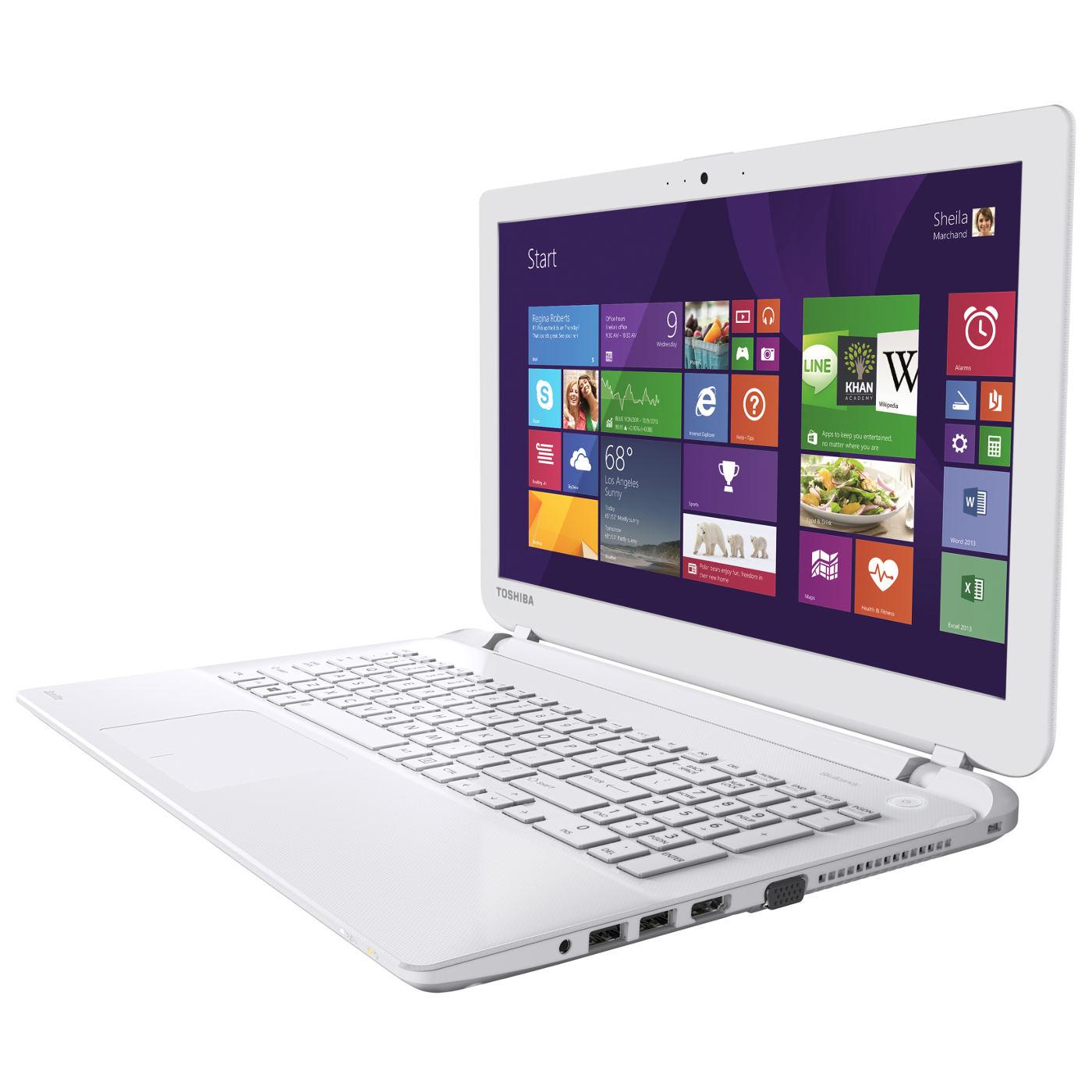 """Toshiba L50-B-17M Blanc -i3-4005/8Go/1To/R5-230/15.6""""/W8.1 (PSKTAE-03D00QFR) - Achat / Vente PC Portable sur Cybertek.fr - 0"""