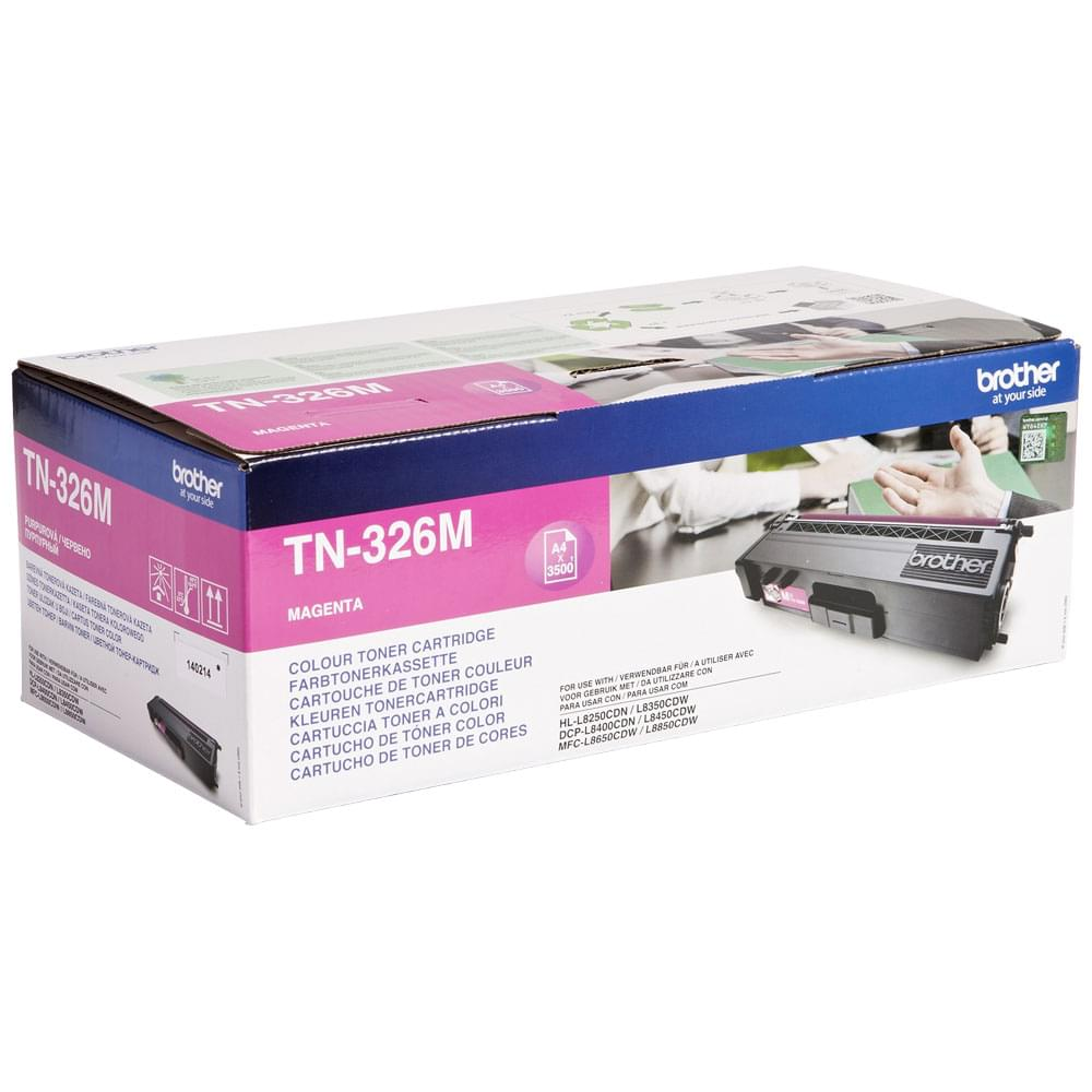 Toner Magenta 3500p - TN-326M pour imprimante Laser Brother - 0