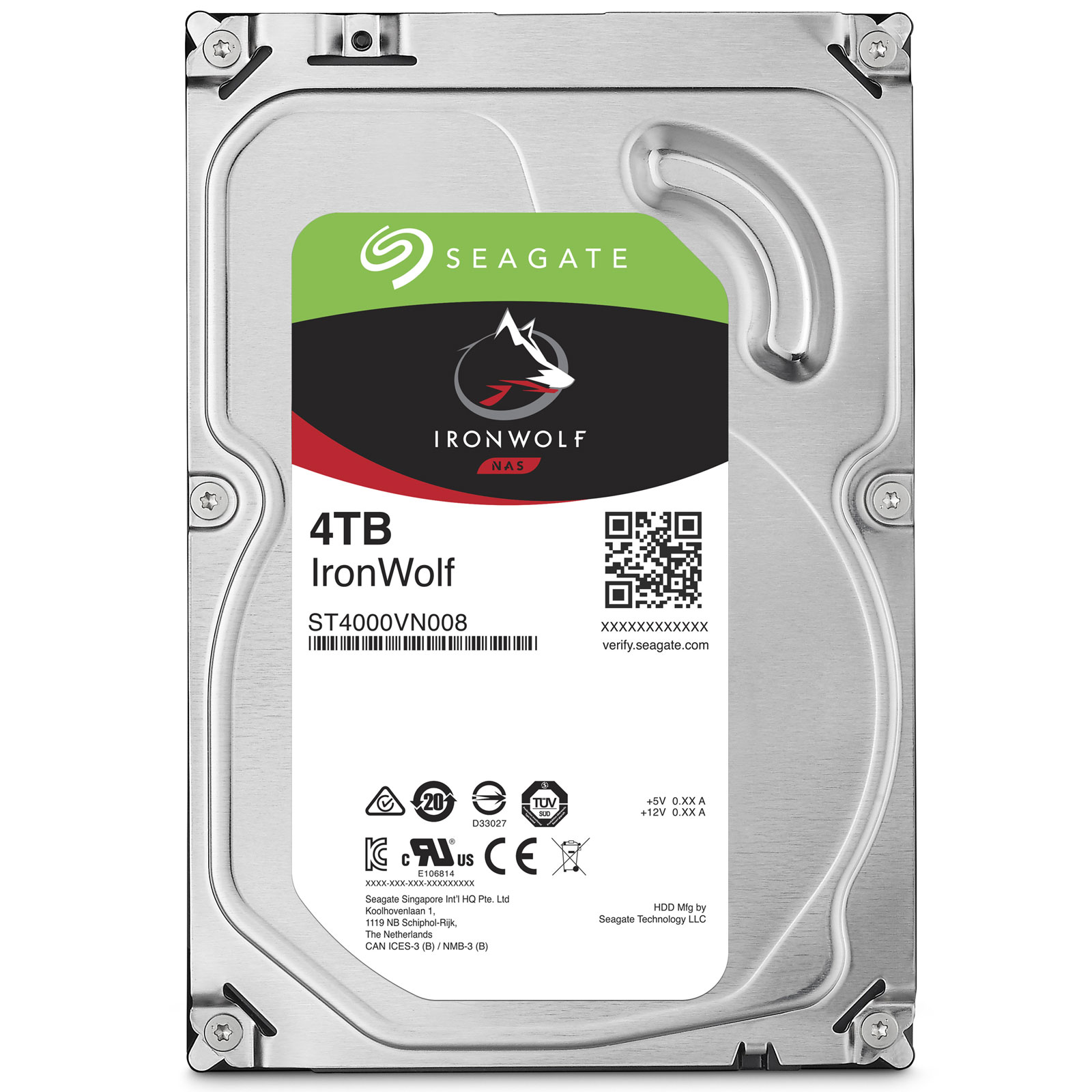 "Seagate 4To SATA III 64Mo IronWolf ST4000VN008 - Disque dur interne 3.5"" - 0"