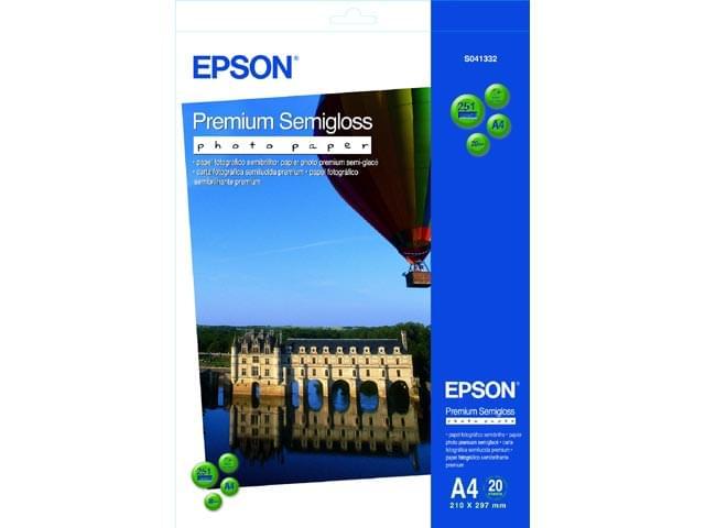 Epson Papier C13S041332 Photo Premium semi glacé A4 20f (C13S041332) - Achat / Vente Papier imprimante sur Cybertek.fr - 0