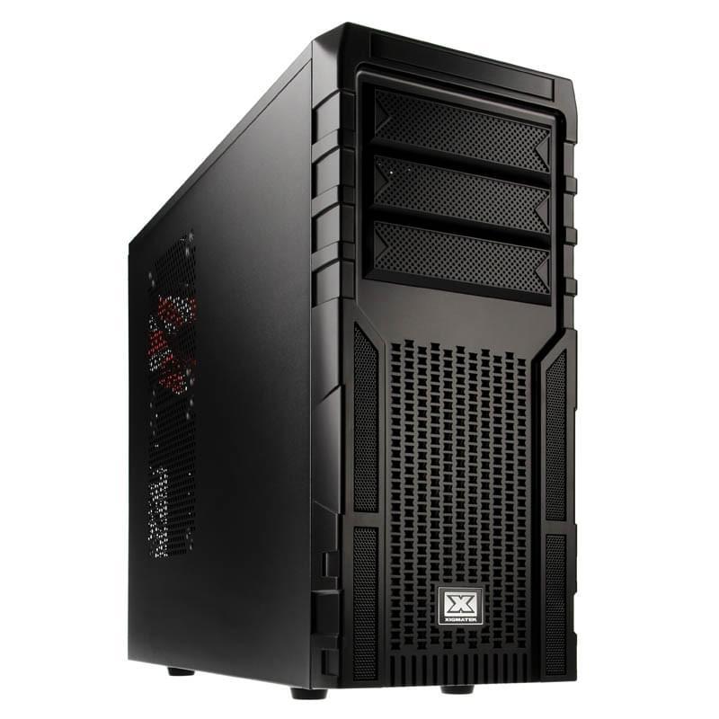 Xigmatek Asgard 381 Black/Black - Boîtier PC Acier - Sans Alim - 0