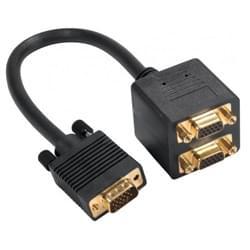 Câble repartiteur VGA 1UC-2 Ecrans simultanés - Connectique PC - 0