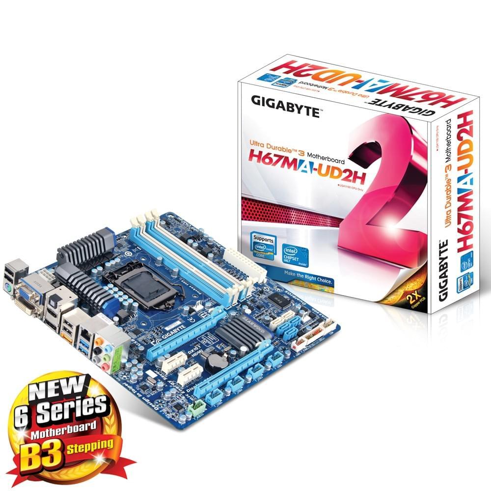 Gigabyte H67MA-UD2H-B3 Micro-ATX DDR3 - Carte mère Gigabyte - 0