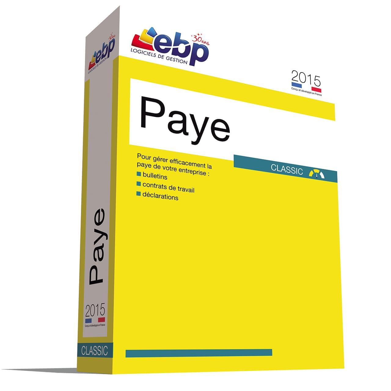 EBP Paye Classic OL 2015 (1025J070FAB) - Achat / Vente Logiciel Application sur Cybertek.fr - 0