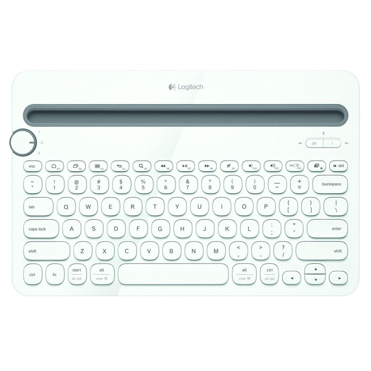 Logitech K480 White (Bluetooth) - Clavier PC - 0