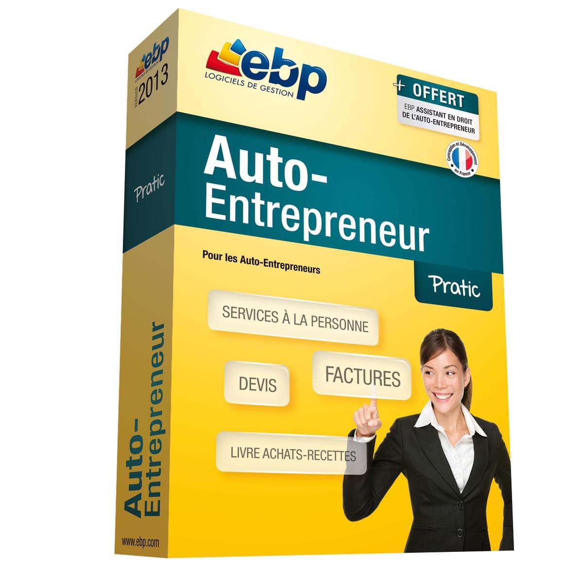 EBP Auto-Entrepreneur Pratic 2013 (1108E050FAA) - Achat / Vente Logiciel Application sur Cybertek.fr - 0