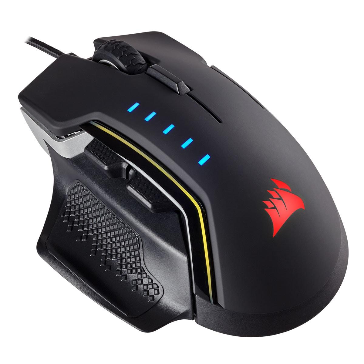 Corsair Glaive RGB Gaming Mouse Aluminium - Souris PC Corsair - 4