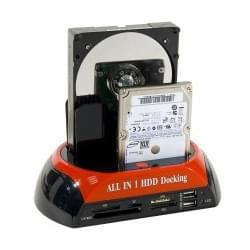 No Name Dock Station USB2 pour DD SATA/IDE + lect. carte (738149) - Achat / Vente Boîtier externe sur Cybertek.fr - 0
