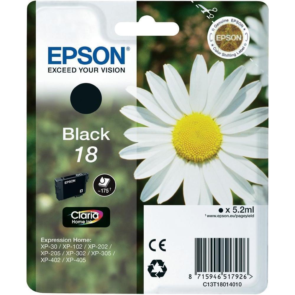 Cartouche T1801 Noir pour imprimante  Epson - 0
