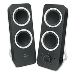 image produit Logitech 2HP - Multimedia Speakers Z200 Midnight Black Cybertek