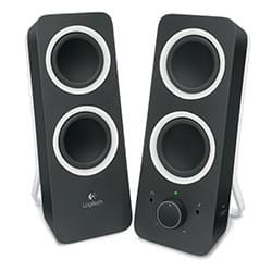 Logitech Enceinte PC Multimedia Speakers Z200 Midnight Black 2HP Cybertek